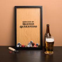 """Копилка для пивных крышек """"Quentin Quarantino"""""""