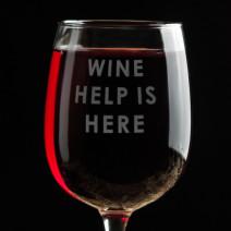 """Бокал для вина """"Wine help is here"""""""