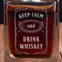 "Графин ""Keep calm and drink whiskey"""