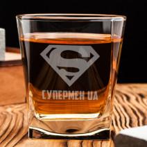 "Стакан для виски ""Супермен UA"""