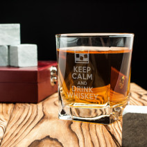 "Стакан для виски ""Keep calm and drink whiskey"""