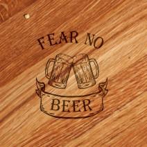 "Доска для нарезки ""Fear no beer"" 30 см"