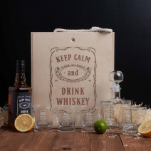 "Набор для виски ""Keep calm and drink whiskey"" в ящике L"