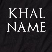 """Футболка GoT """"Кhal"""" именная мужская"""
