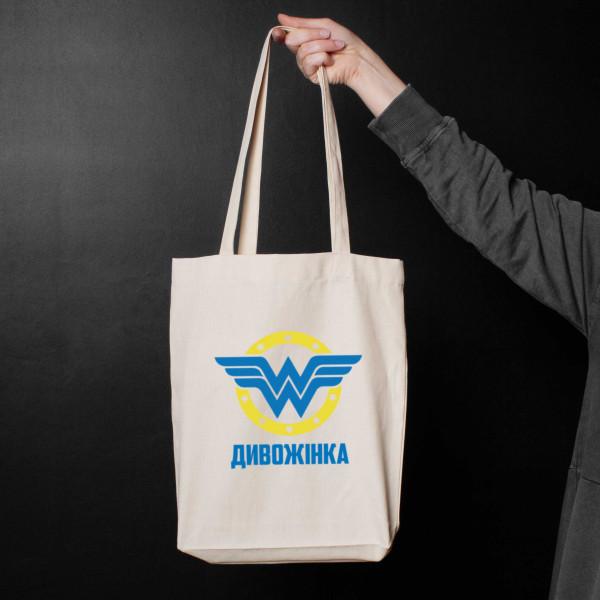 "Экосумка ""Wonderwoman"" персонализированная, фото 1, цена 330 грн"