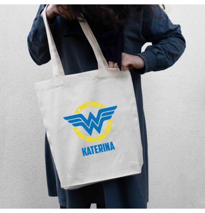 "Экосумка ""Wonderwoman"" персонализированная, фото 3, цена 330 грн"