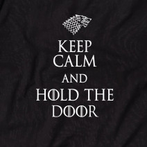 "Футболка GoT ""Keep calm and hold the door"" мужская"