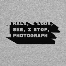 "Футболка ""I walk, I look, I see, I stop, I photograph"" мужская"
