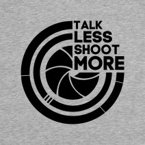 "Футболка ""Talk less, shoot more"" мужская"