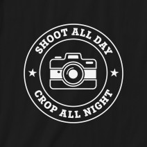 "Футболка ""Shoot all day, cropp all night"" мужская"