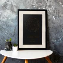 """Постер """"Звездное небо"""" персонализированный А3"""
