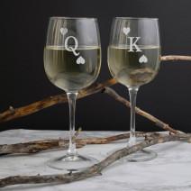"""Бокалы для вина парные """"Король и Королева"""""""