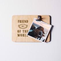 """Доска для фото """"№1 of the world"""" персонализированная с зажимом"""