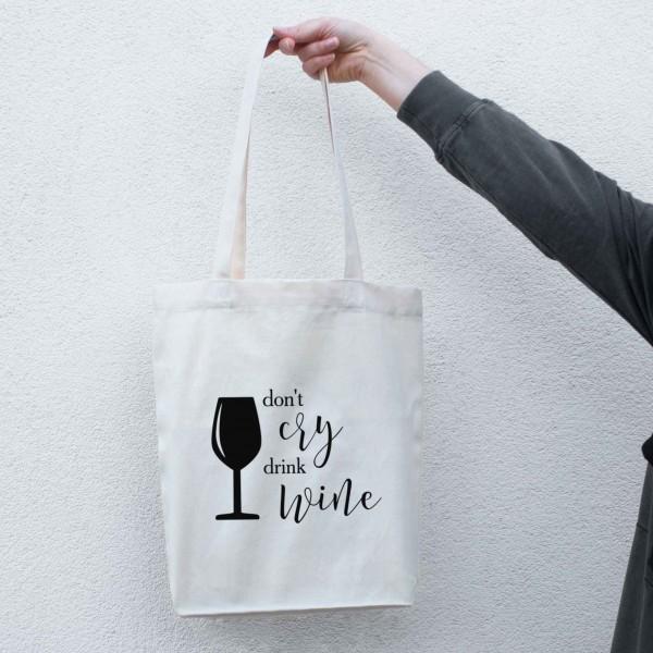 """Экосумка шоппер """"Don`t cry drink wine"""", фото 1, цена 240 грн"""