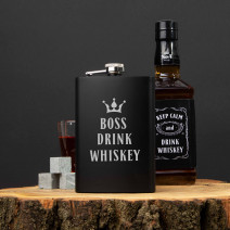 "Фляга ""Boss drink whiskey"""