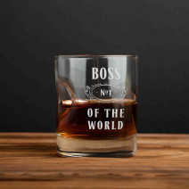 "Стакан с пулей ""Boss №1 of the world"" для виски"