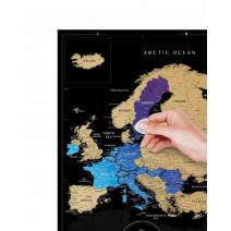"Скретч-карта ""Black Europe"""