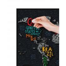 """Скретч карта """"Travel Map LETTERS World"""""""