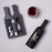 "Набор для вина в бутылке ""All we need is wine"""