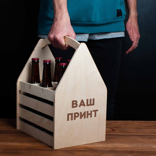 """Ящик для пива """"Конструктор"""" персонализированный, фото 1, цена 599 грн"""
