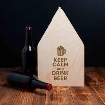 """Ящик для пива """"Keep calm and drink beer"""""""