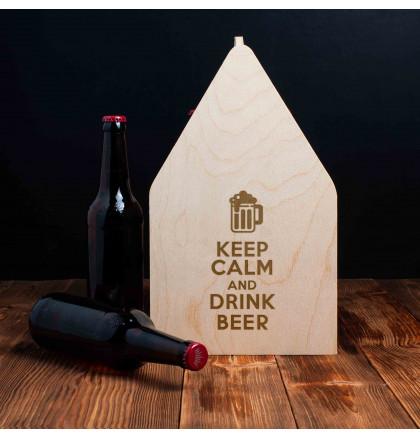 """Ящик для пива """"Keep calm and drink beer"""", фото 2, цена 499 грн"""