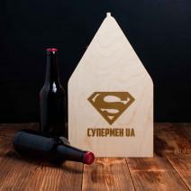 """Ящик для пива """"Супермен UA"""""""