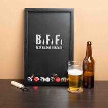 """Рамка-копилка для пивных крышек """"Beer Friends Forever"""""""