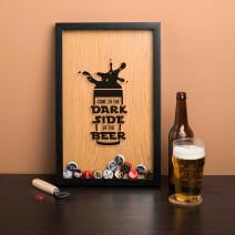 "Рамка-копилка для пивных крышек ""Come to the dark side of the beer"""