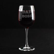 """Бокал для вина """"Dad Boss"""""""