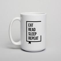 "Кружка ""Eat Read Sleep Repeat"""