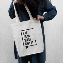 "Экосумка ""Eat Read Sleep Repeat"""
