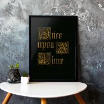 "Постер ""Once upon a time"" A3"