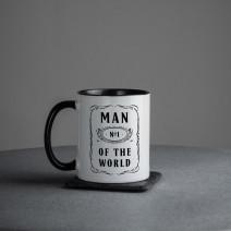 "Кружка ""Man №1 of the world"""