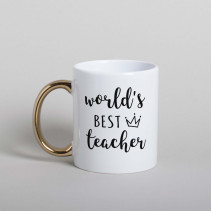 "Кружка ""World`s best teacher"""