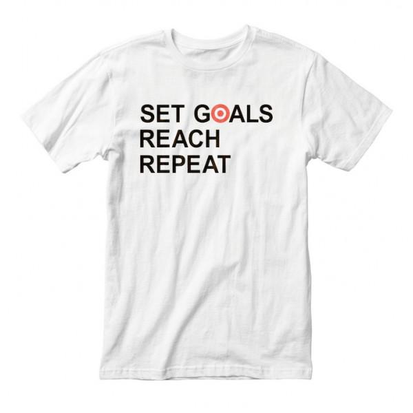 """Футболка мужская """"Set Goals Reach Repeat"""", фото 1, цена 450 грн"""