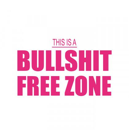 "Футболка женская ""Bullshit Free Zone"", фото 2, цена 350 грн"
