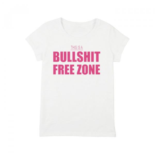 "Футболка женская ""Bullshit Free Zone"", фото 1, цена 350 грн"