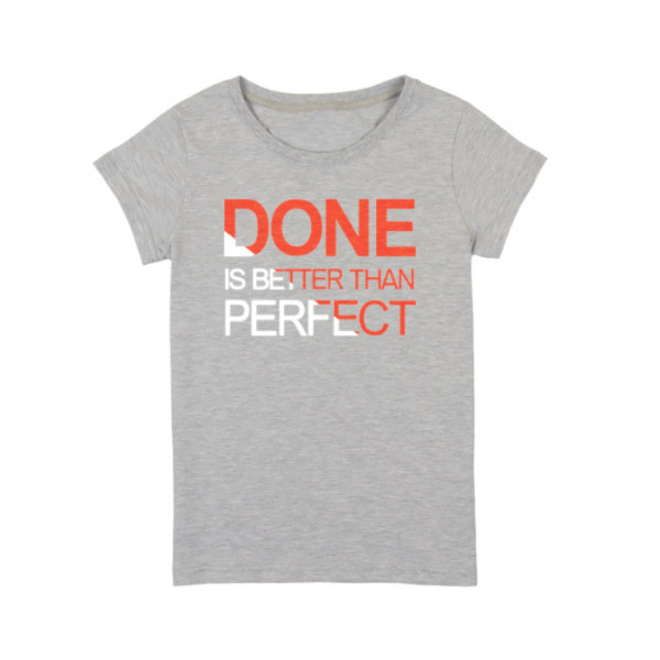 "Футболка женская ""Done is Better than Perfect"", фото 1, цена 450 грн"