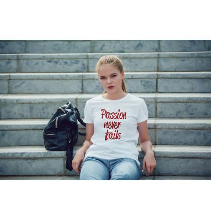 """Футболка женская """"Passion Never Fails"""", фото 2, цена 450 грн"""