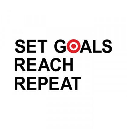"""Футболка женская """"Set Goals Reach Repeat"""", фото 2, цена 450 грн"""