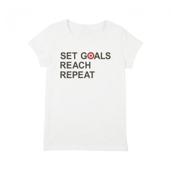 """Футболка женская """"Set Goals Reach Repeat"""", фото 1, цена 450 грн"""