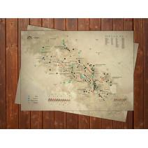 """Скретч-карта горных вершин """"Карпаты"""""""