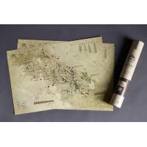 """Карта горных вершин в тубусе """"Карпати"""""""