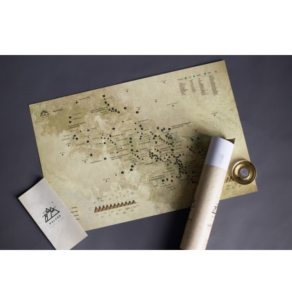 "Карта горных вершин в тубусе ""Карпати"", фото 3, цена 360 грн"