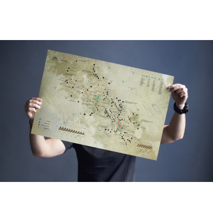 "Карта горных вершин в тубусе ""Карпати"", фото 2, цена 360 грн"