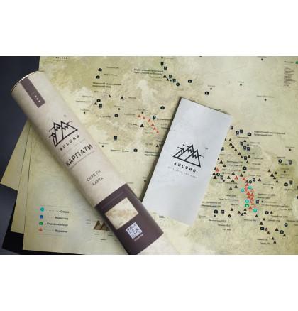 "Карта горных вершин в тубусе ""Карпати"", фото 4, цена 360 грн"