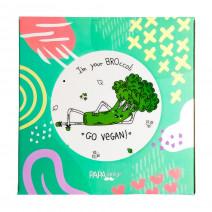 """Тарелка """"Брoкколи: Go Vegan"""""""
