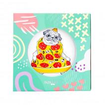 """Тарелка """"Мопс: Pizza Lover"""""""
