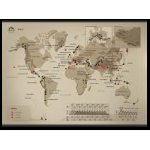 """Скретч-карта горных вершин """"World"""""""